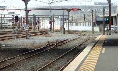 Photo of tracks North of Wellington Station