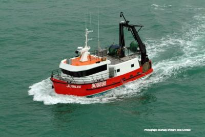The fishing vessel Jubilee at sea