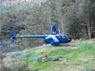 ZK-HBQ R44 II. Courtesy of Helicopter Charter Karamea.