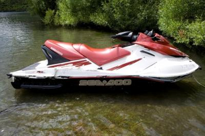 Personal watercraft Sea-Doo GTX 155 post accident. Courtesy of New Zealand Polic