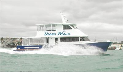 The Dream Weaver at sea. Courtesy of Dream Weaver Charters Limited.