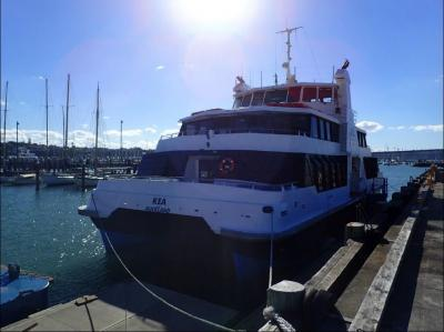 Passenger ferry Kea at Auckland.  Credit TAIC