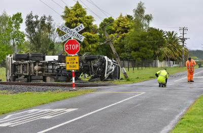 The accident site. Image: Whakatane Beacon