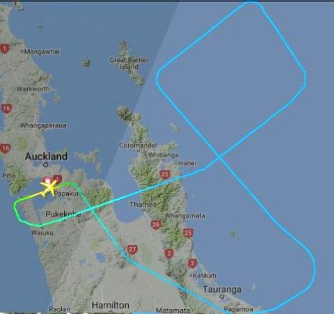 NZ30 flight track [Image: FlightRadar]