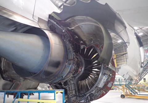 Photo - one of the engines, opened for inspection
