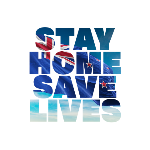 NZ Govt graphic - Stay Home Save Lives