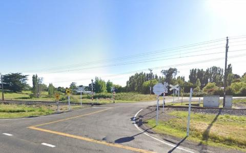 Photo of the level crossing / Google